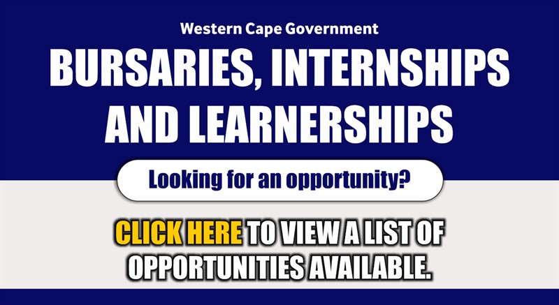 Western Cape Government: Bursaries, internships and learnerships