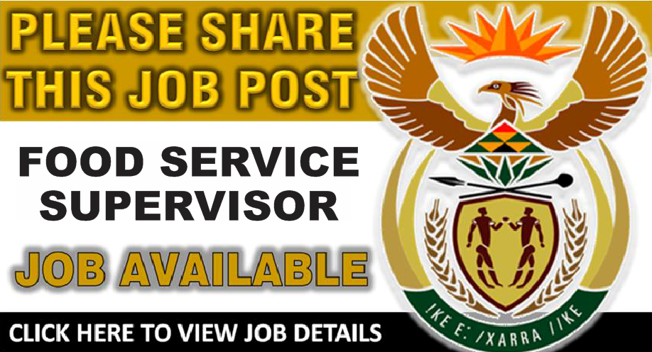 Food Service Supervisor Posts - Tygerberg Hospital - Cape Town Closing: 5 Jan 2018